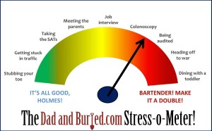 parenting, stress, parenthood, dinner time, toddlers, eating, stress thermometer, dad and buried, dad bloggers, wordless wednesday, funny, humor, family, lifestyle, dads, fathers, parenting shrug, discipline, health, toddlers, stress-o-meter