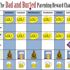 parenting reward chart, funny, humor, parenting, discipline, behavior, children, moms, dads, responsibility, family, lifestyle, motherhood, fatherhood, parenting, parenthood, toddlers, stress, terrible twos
