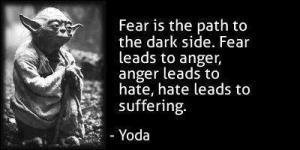 hate, anger, star wars, yoda, dark side, parenting, blogging, dad and buried, funny dad blogs, fatherhood, children, kids