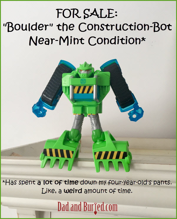 Transformers, boulder, parenting, funny, dad blogs, dad blogger, dad and buried, humor, toys, movies, kids, parenting, dads, moms, motherhood, fatherhood, family, lifestyle