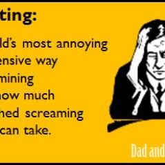 parenting, tolerance, screaming, noise, dads, moms, kids, family, children, lifestyle, life, parenthood, motherhood, fatherhood, mom blogs, dad blogs, dad bloggers, parent bloggers, funny, humor, e-card, ecard, memes, noise tolerance
