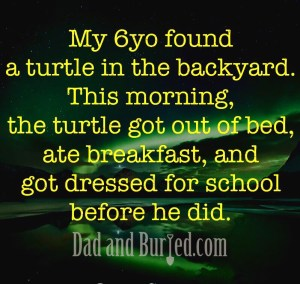 morning, school, school bus, turtle, morning routine, parenting, parents, dad and buried, mommy blog, dad blog, parenthood, funny, family, humor, mike julianelle
