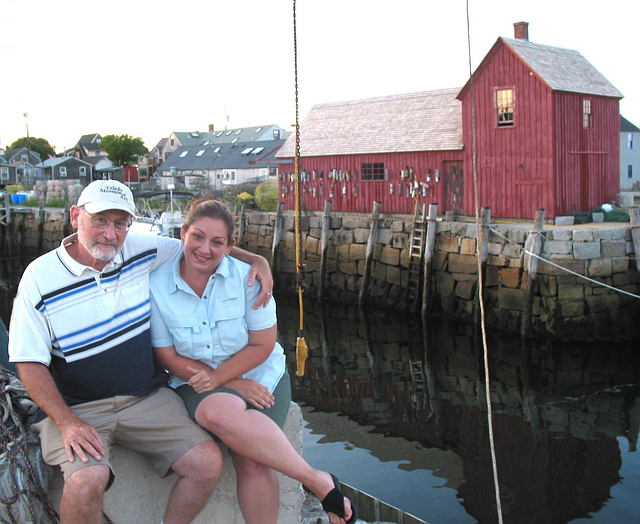 Dad and Renee at Rockport, Mass