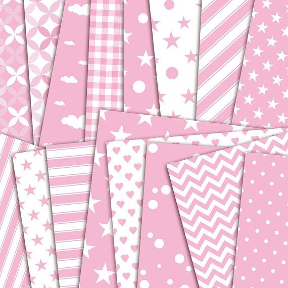 It's a Girl - Pattern Digital Paper Pack