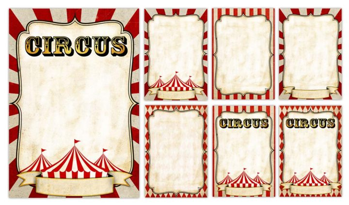 3 Circus Poster Background