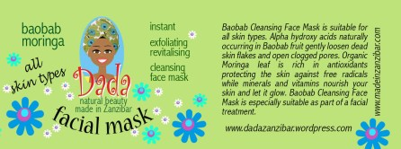 Baobab Cleansing Face Mask is suitable for all skin types. Alpha hydroxy acids naturally occurring in Baobab fruit gently loosen dead skin flakes and open clogged pores. Organic Moringa leaf is rich in antioxidants protecting the skin against free radicals while minerals and vitamins nourish your skin and let it glow. Baobab Cleansing Face Mask is especially suitable as part of a facial treatment.