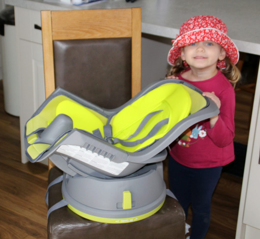 graco high chair cover uk wheelchair van for rent the swivi booster seat dad blog