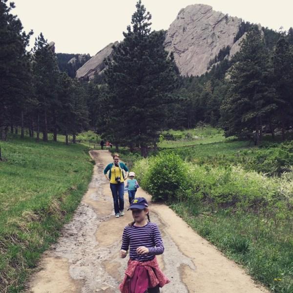 hiking boulder
