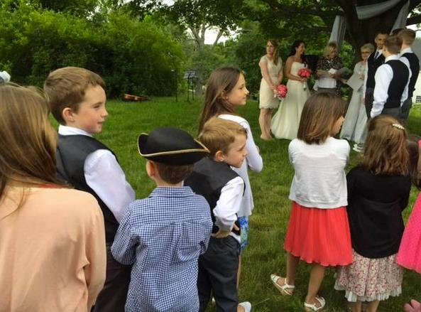 babies at wedding