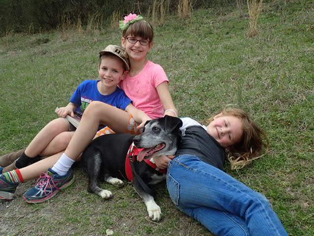 babies and winnie the dog