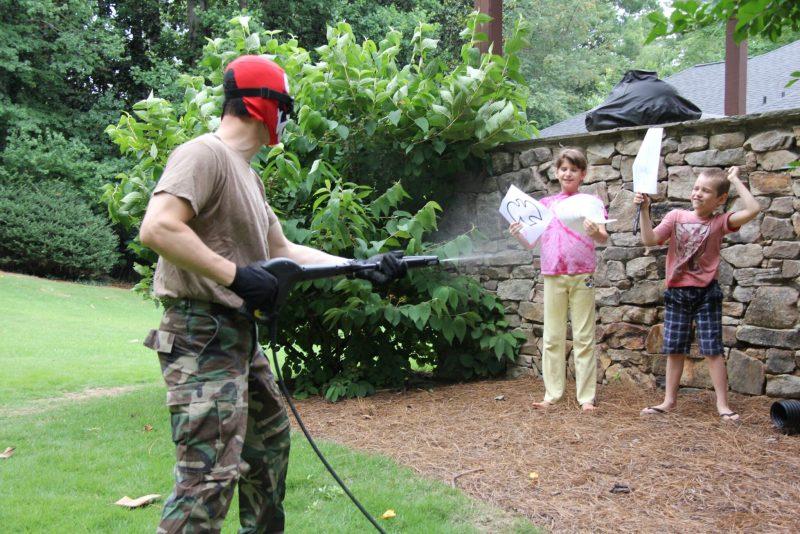 spraying babies more