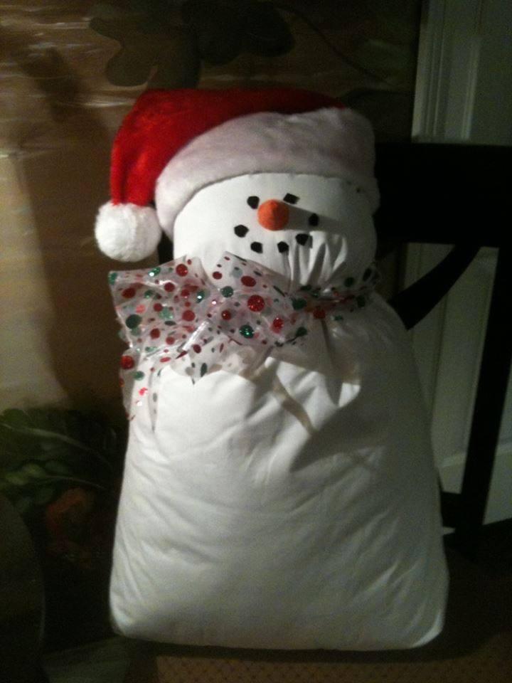 Pillow Snowman  Daddies Do Too