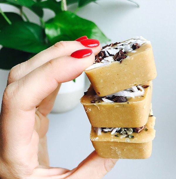 Peanut Butter Vanilla Freezer Fudge
