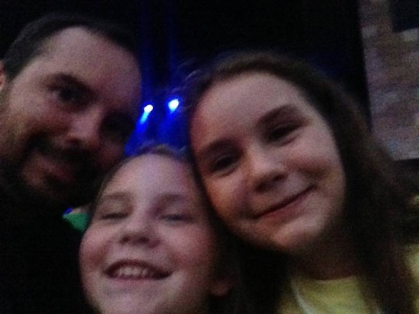 Dad and Kids at Concert