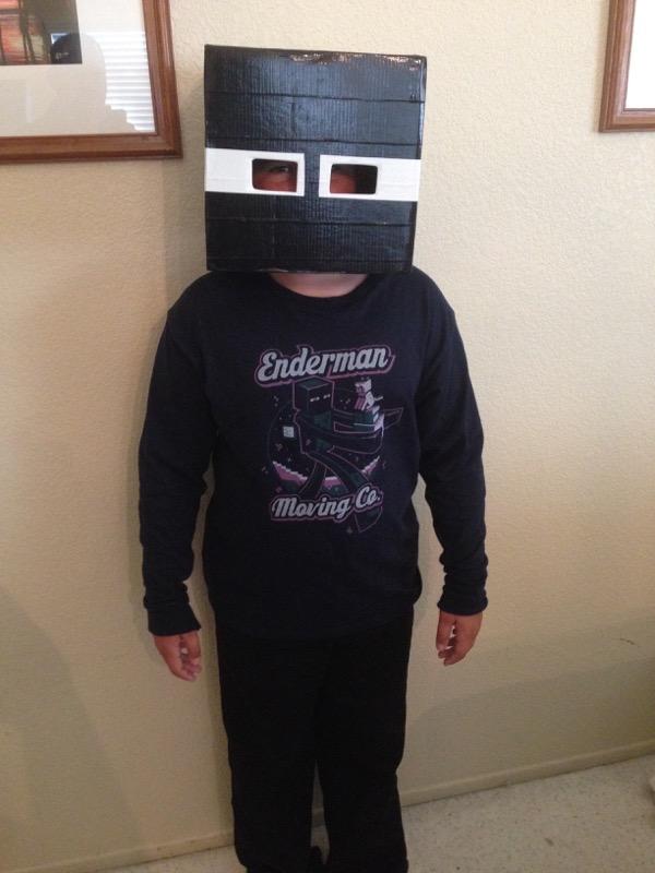 Ian Minecraft Enderman Mask Costume