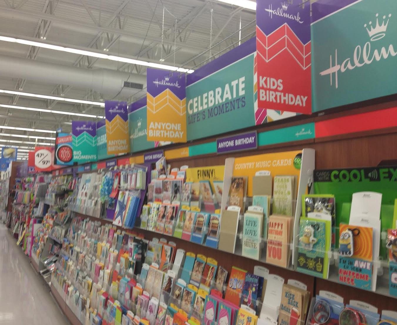 stocking up for birthdays with hallmark cards at walmart, Birthday card