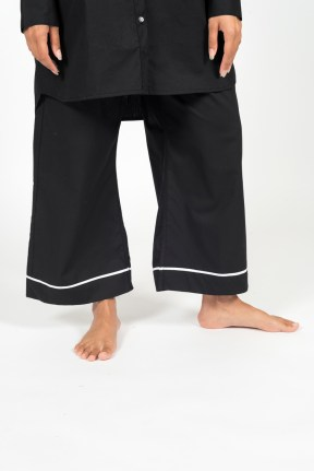 100% Cotton Sayo Pant (Black)