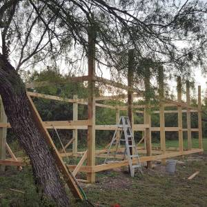Daddykirbs Horse Barn Build - Framing Nearly Complete