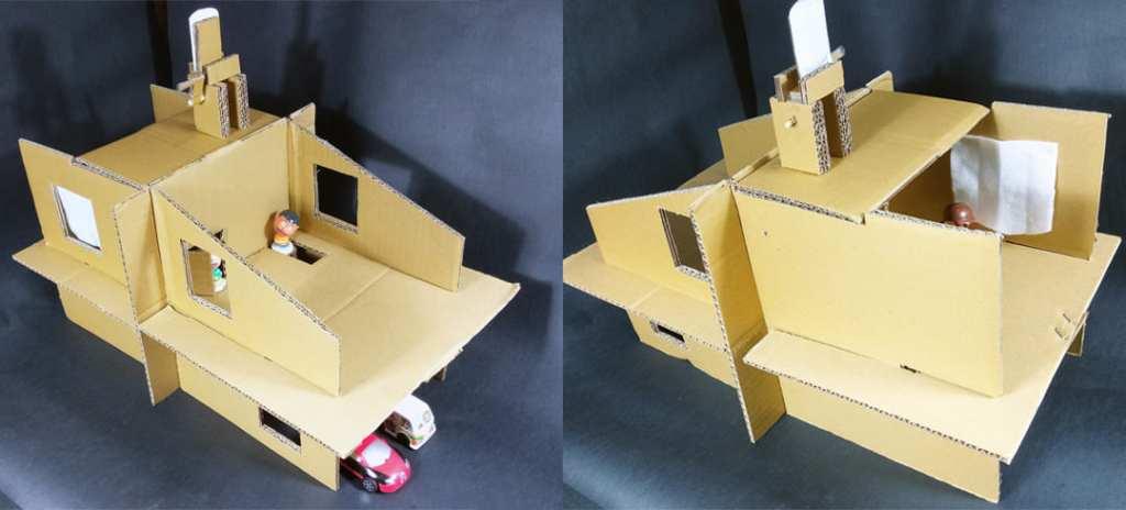 組合式紙板娃娃屋