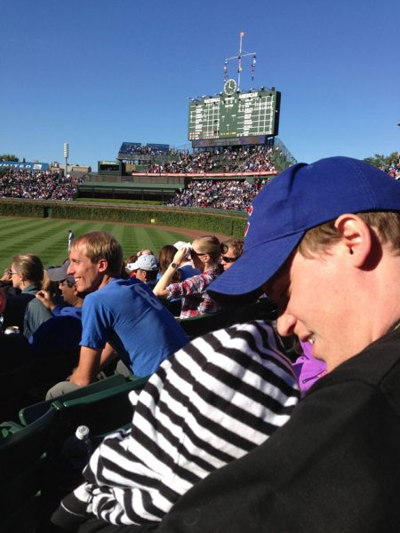 Father and Son Moment at the Ballpark (Wrigley)