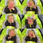 Daddy's Grounded - 4moms mamaRoo - One week old.