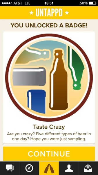 Untappd - Taste Crazy Badge