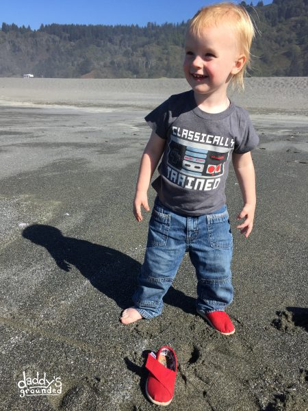 Toddler lost a shoe on the beach!