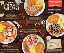 New Buttermilk Pancakes Menu Outside