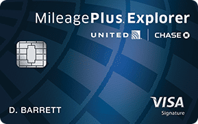 united mileageplus explorer card