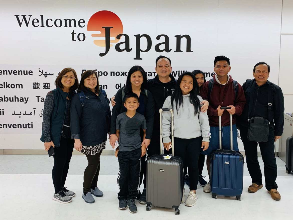 Flying via ANA  + our first few hours in Japan