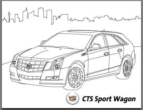 C Is For Caddy And Carbon Tax: GM 'Green' Coloring Book
