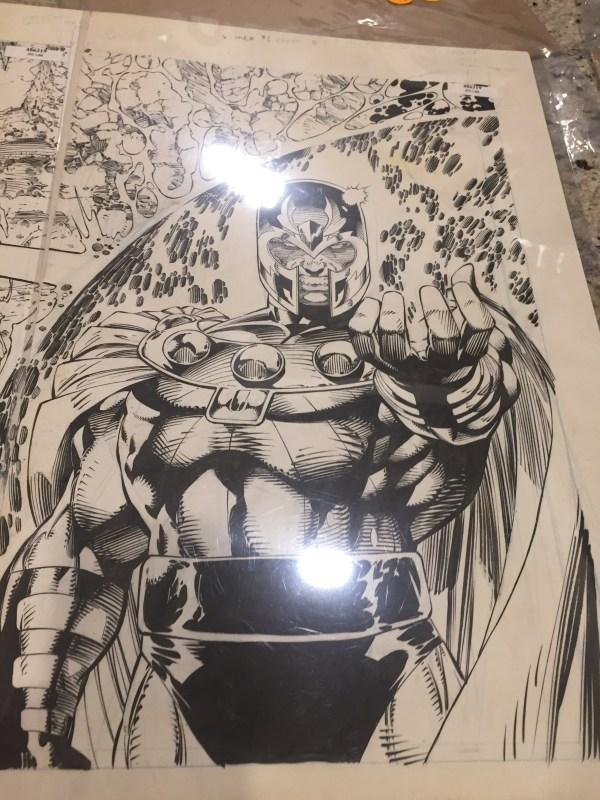 Psst Wanna Jim Lee Original Art X-men #1 Dad