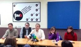 Roda de premsa del sindicalisme alternatiu contra aquest Acord