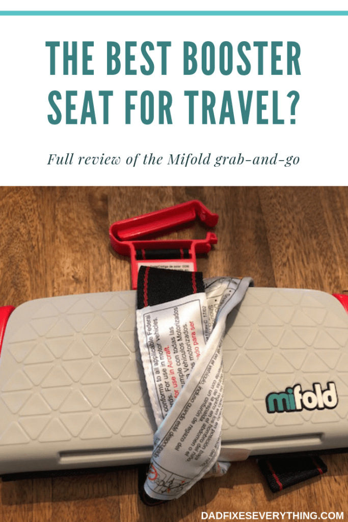 I took the Mifold booster on a trip with my toddler. (Review)