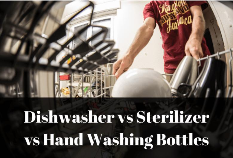 A dad loading a dishwasher