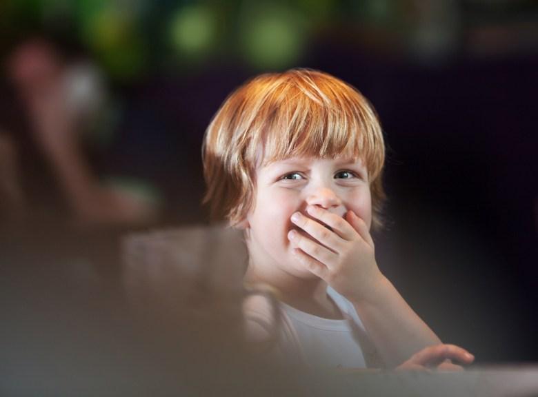 Boy named Blake giggling