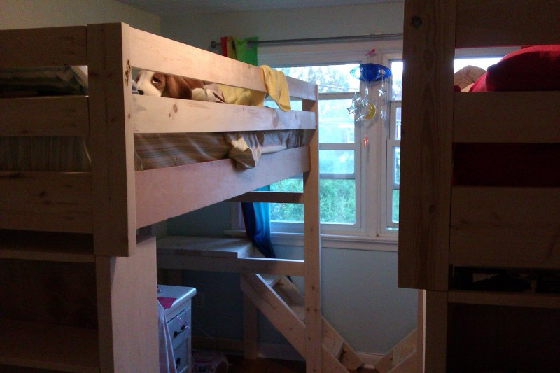 Image of two loft beds in a room