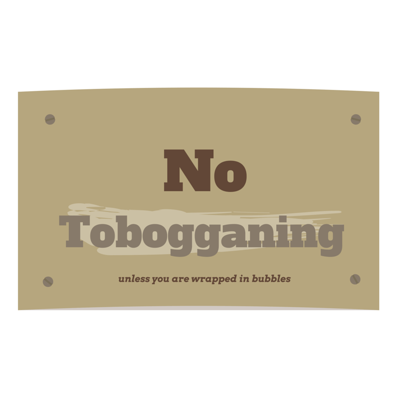 No tobogganing sign