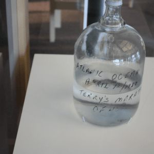 IMage of the jug of water that Terry Fox collected from the Atlantic Ocean