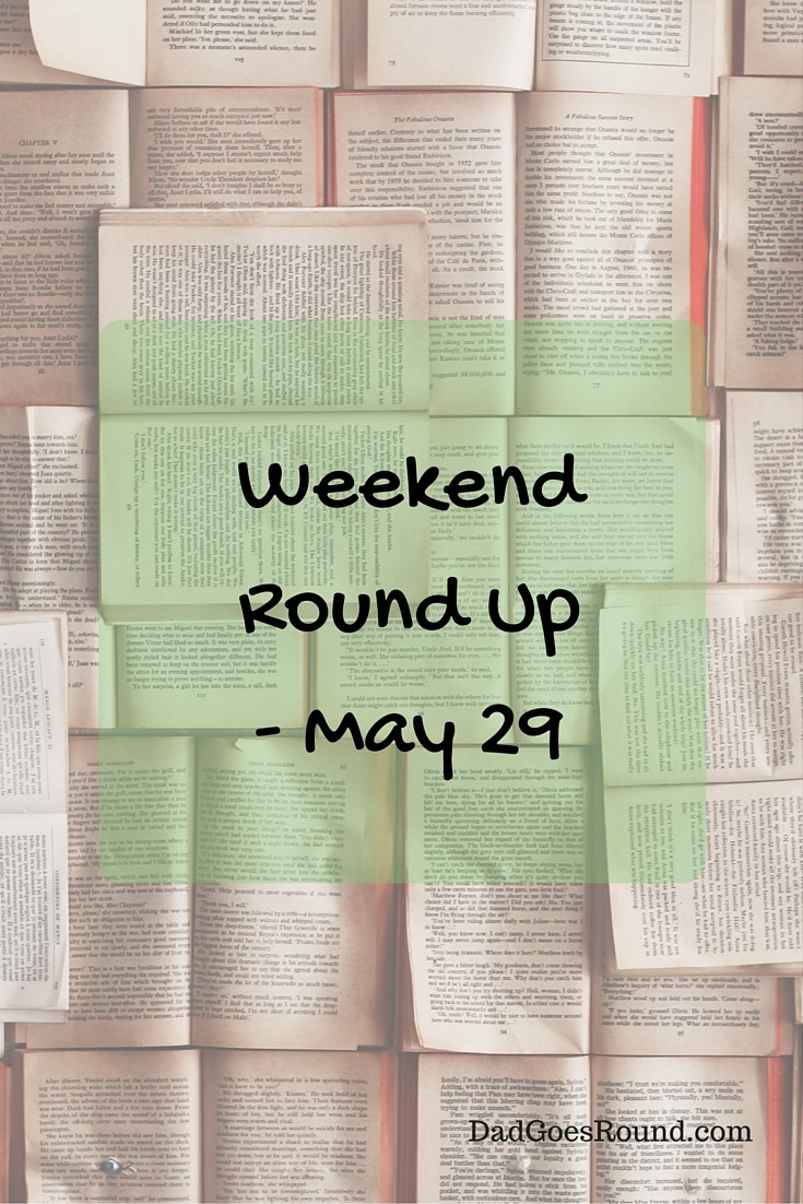 Weekend Round Up - June 5 |Some great pieces on risk & play from @happinessishereblog; new dad knowledge from @puzzlingposts & portraits of fatherhood via @HowToBeADad