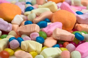 Various items of candy