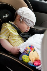 no car sickness asleep