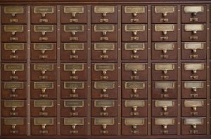 Drawers, highly orgnanized. Knowing where items are stored