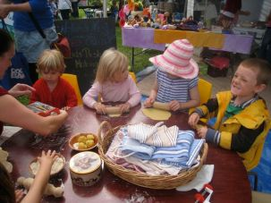 Nature's Nest community childcare had make your own pasta for the littlies