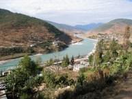 road following river, Bhutan