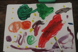 three year old's painting