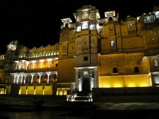 Udaipur Palace lights, Rajasthan