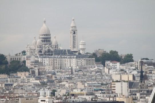 looking across Paris to Sacre Coeur, Monmartre