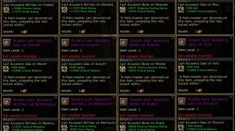 U21:  Mordor – Legendary Items (New Runes/Gems/Settings)