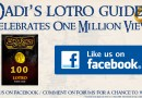 Dadi's LOTRO Guides Hits 1 Million Views